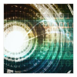 Cartão Portal futurista da tecnologia com Digitas