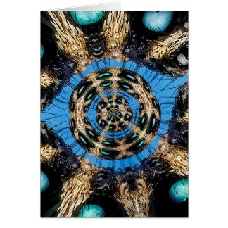 Cartão Portal psicadélico da aranha