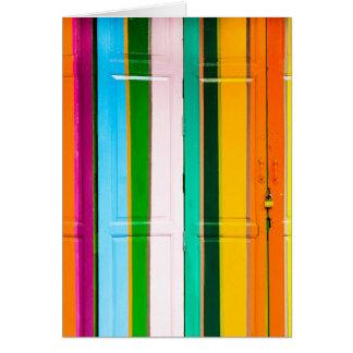 Cartão Portas coloridas da garagem
