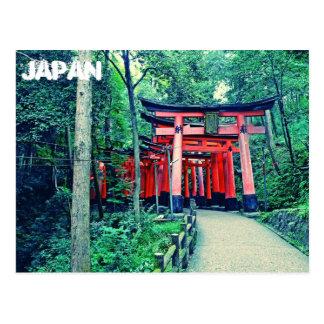 Cartão - portas de Japão - de Torii em Kyoto