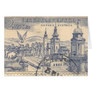 Cartão: Porte postal Czechoslovakian cancelado