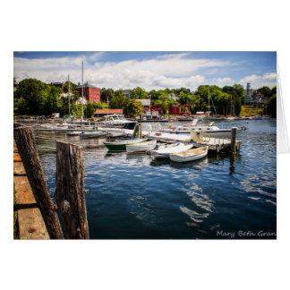 Cartão Porto de Rockport Maine