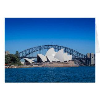Cartão Porto de Sydney em uma manhã bonita