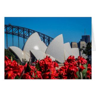 Cartão Porto de Sydney em uma manhã bonita do primavera