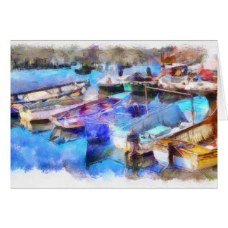 Cartão Porto Devon de Brixham do Watercolour
