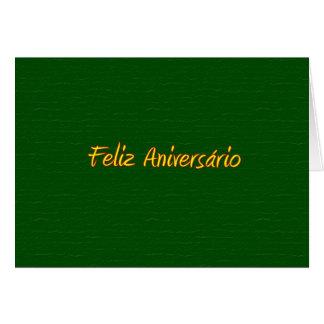 Cartão português do feliz aniversario