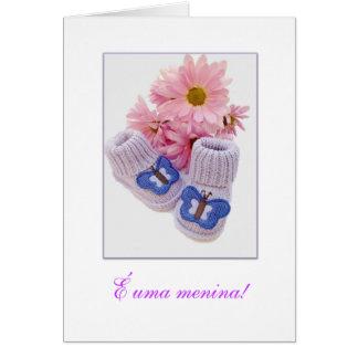 Cartão Português: É uma menina! Menina do uma de É! 1