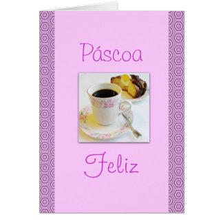 Cartão Português: Folar de Páscoa/bolo da páscoa
