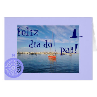 Cartão Português: O diâmetro faz o dia dos pais de pai/