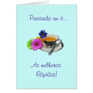 Cartão Português: Obtenha o poço - como melhoras!