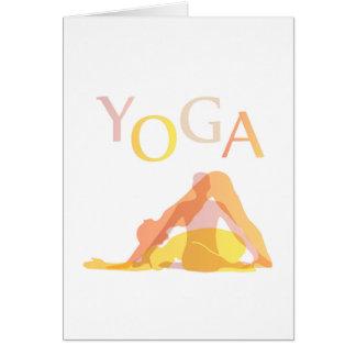 Cartão Poses da ioga