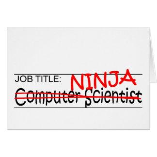 Cartão Posição Ninja - comp(s) Sci