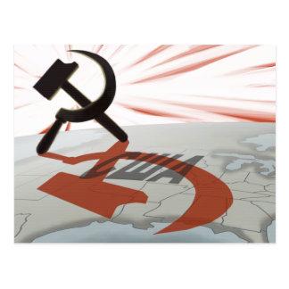 """Cartão Postal """"США"""" América comunista"""