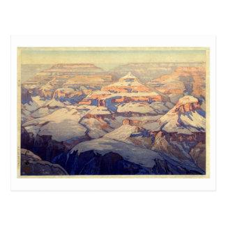 Cartão Postal キャニオン do ・ do グランド, Grand Canyon, Yoshida, Woodcut