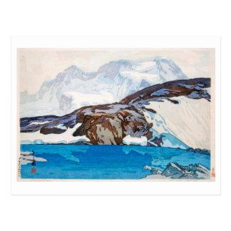 Cartão Postal ブライトホルン, Breithorn, Hiroshi Yoshida, Woodcut