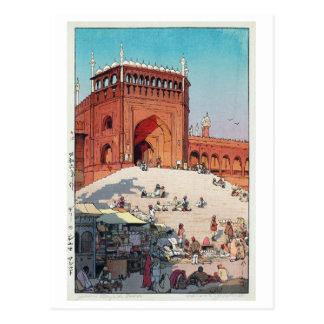 Cartão Postal マスジド do ・ do ジャーマー, Jama Masjid, Deli, Hiroshi