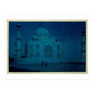 Cartão Postal マハル do ・ do 月夜のタージ, Taj Mahal na noite enluarada,