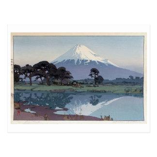 Cartão Postal 富士山鈴川, Monte Fuji, Suzukawa, Yoshida, Woodcut