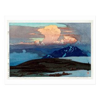 Cartão Postal 立山五色ヶ原, Tateyama Goshikigahara, Yoshida, Woodcut