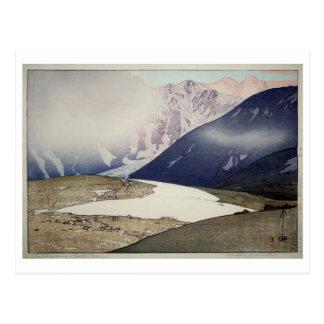 Cartão Postal 立山別山, Tateyama Bessan, Hiroshi Yoshida, Woodcut