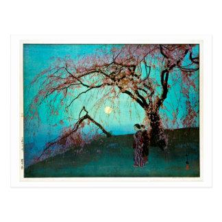 Cartão Postal 雲井桜, flores de cerejeira de Kumoi, Yoshida,