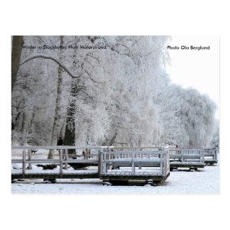 Cartão Postal 01.  Inverno em Éstocolmo. Norr Mälars…