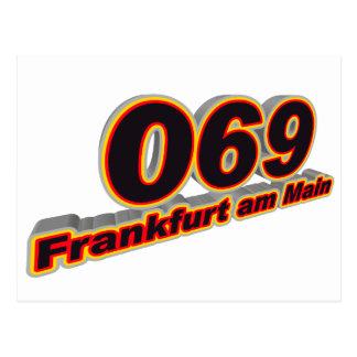 Cartão Postal 069 Francoforte - am - cano principal