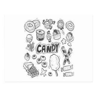 Cartão Postal 1º de fevereiro - decorando com dia dos doces