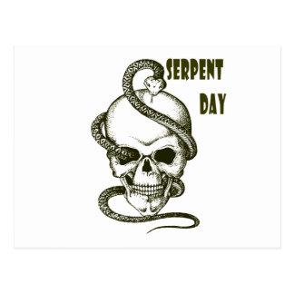 Cartão Postal 1º de fevereiro - dia da serpente - dia da