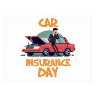 Cartão Postal 1º de fevereiro - dia do seguro de carro
