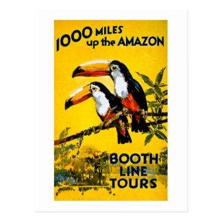 Cartão Postal 1000 milhas levantam o poster das viagens vintage