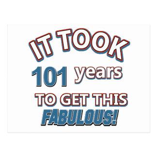 Cartão Postal 101st design do aniversário do ano