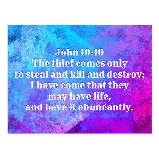 Cartão Postal 10:10 de John eu vim que podem ter a vida