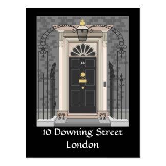 Cartão Postal 10 Downing Street, Londres (desenho)