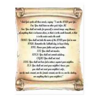Cartão Postal 10 mandamentos