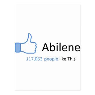 Cartão Postal 117063 pessoas gostam de Abilene