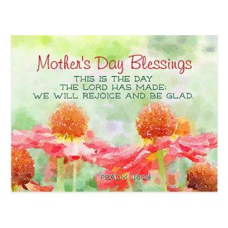 Cartão Postal 118:24 do salmo da bênção do dia das mães este é o