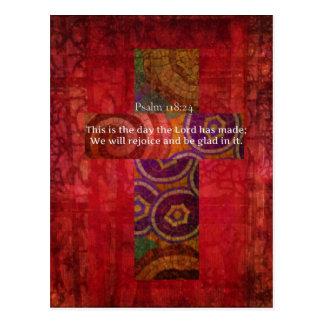 Cartão Postal 118:24 do salmo que Uplifting a arte do cristão do