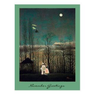 Cartão Postal 11 de novembro cumprimentando com arte e citações