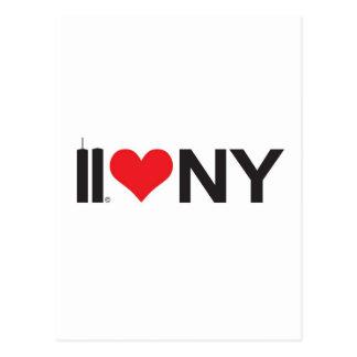 Cartão Postal 11 de setembro amor NY das torres gémeas