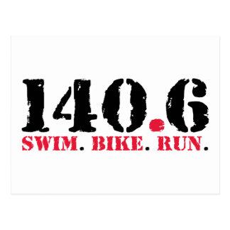 Cartão Postal 140,6 Funcionamento da bicicleta da natação