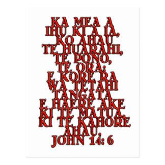 Cartão Postal 14:6 de John maori