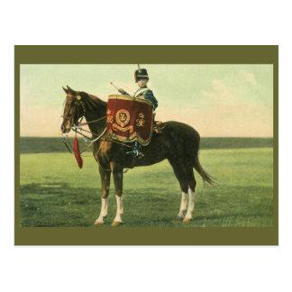Cartão Postal 15o O menino do Hussars Pequeno Baterista do rei