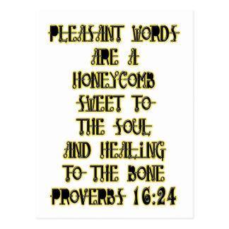 Cartão Postal 16:24 dos provérbio