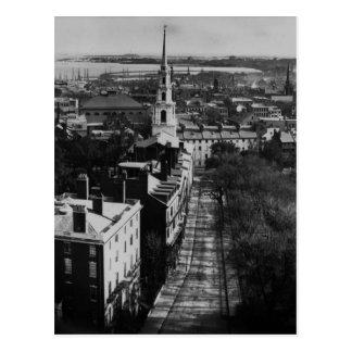 Cartão Postal 1859:  Uma vista de Boston da casa do estado