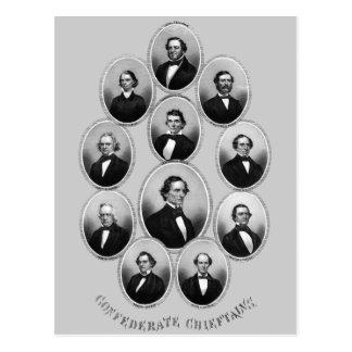 Cartão Postal 1865 comandantes confederados