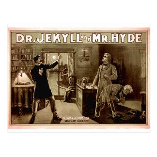 Cartão Postal 1880s do Dr. Jekyll e do Sr. Hyde Vintage