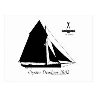 Cartão Postal 1882 draga da ostra - fernandes tony