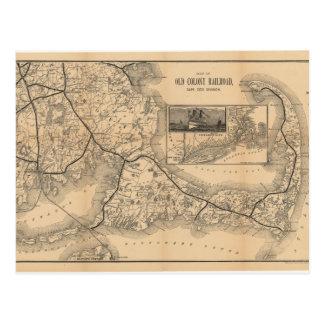 Cartão Postal 1888_Old_Colony_Railroad_Cape_Cod_map