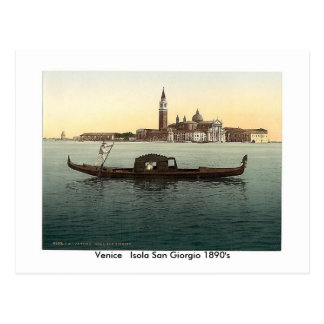 Cartão Postal 1890's   de Veneza Isola San Giorgio